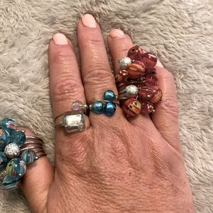 glassblown ring Faerie Dust